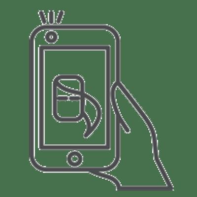 Smartphone Symbol grau