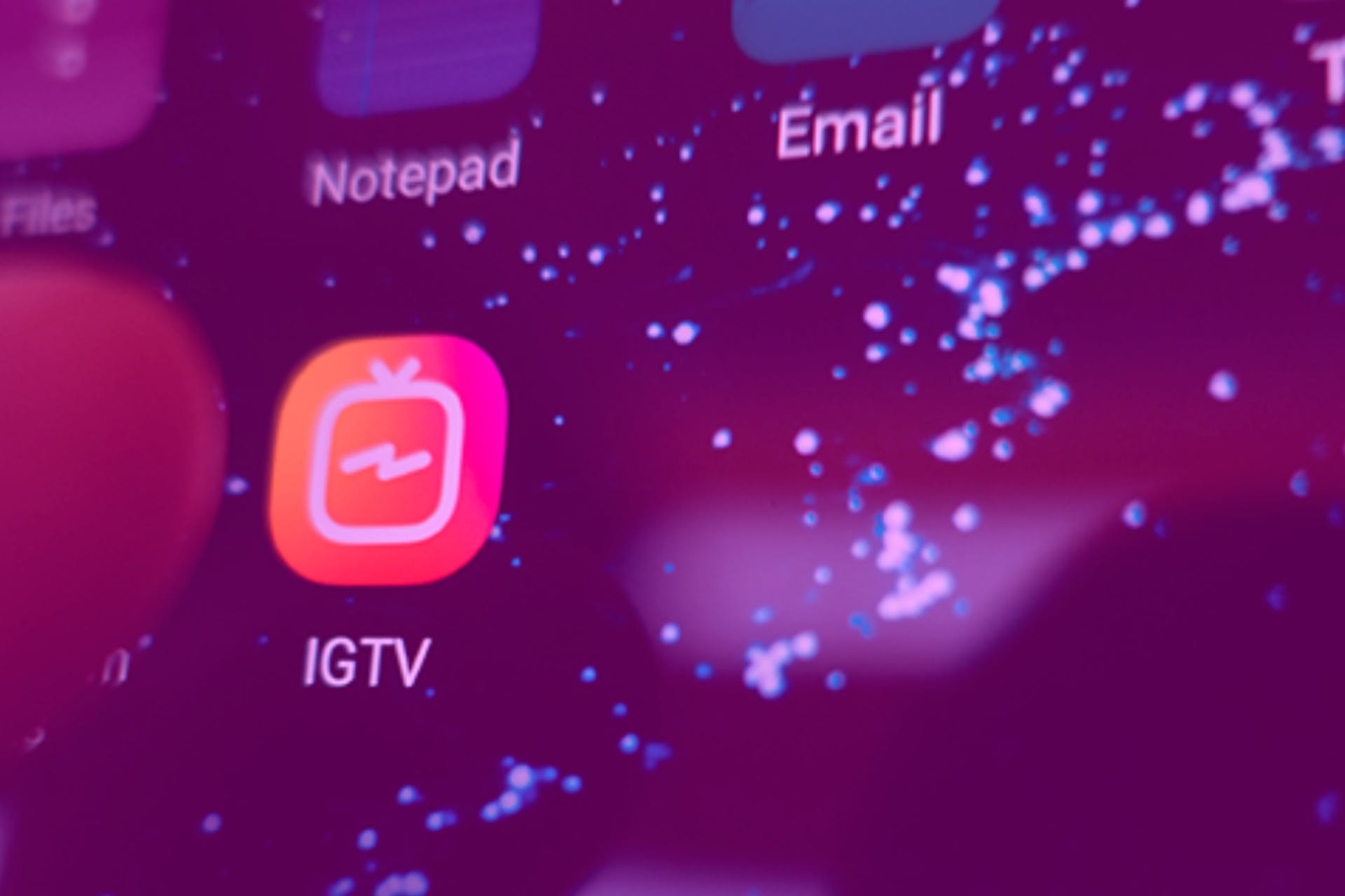 screenshot of the Instagram IGTV app icon