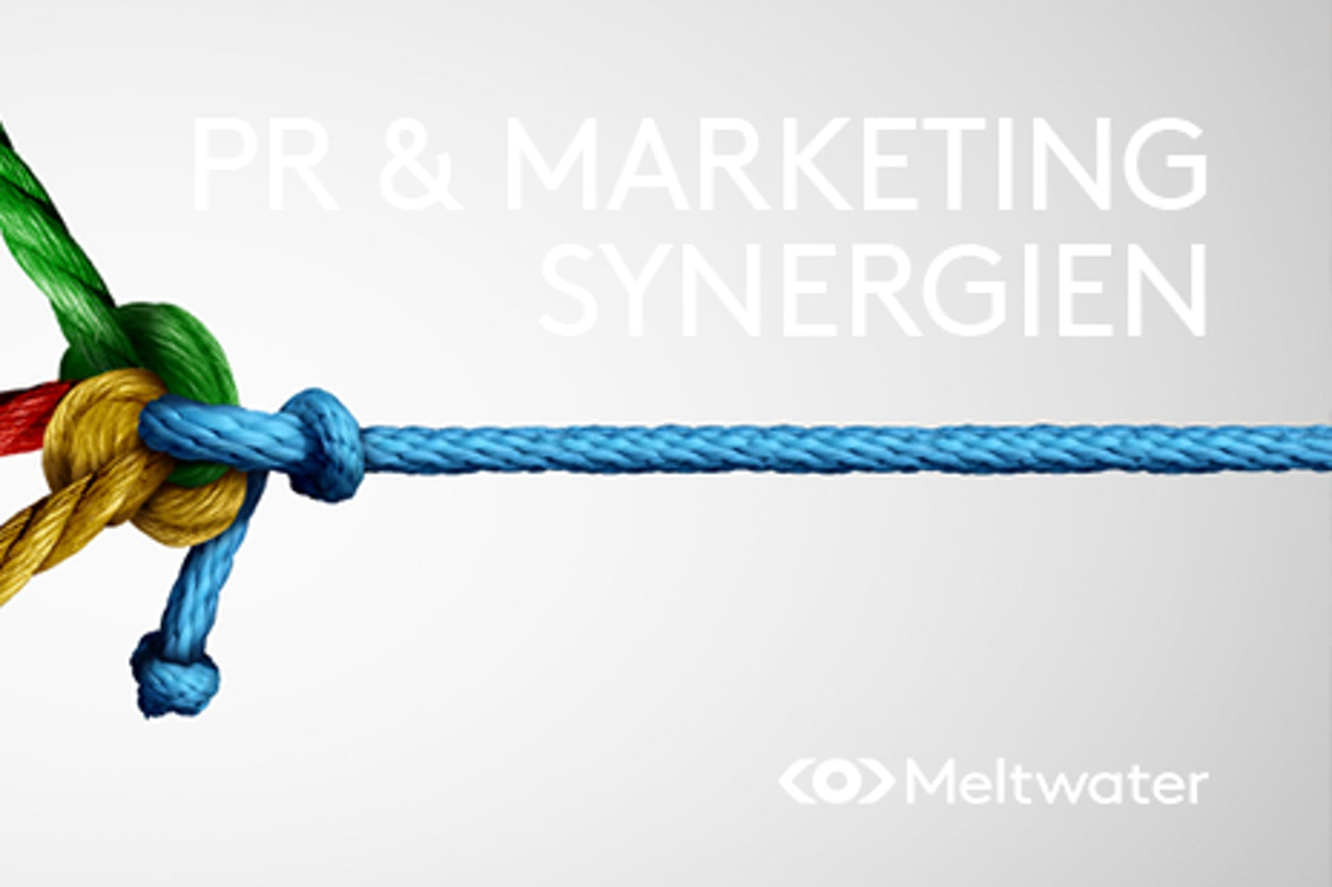 PR und Marketing Synergien Seil bunte Knoten in Seilen