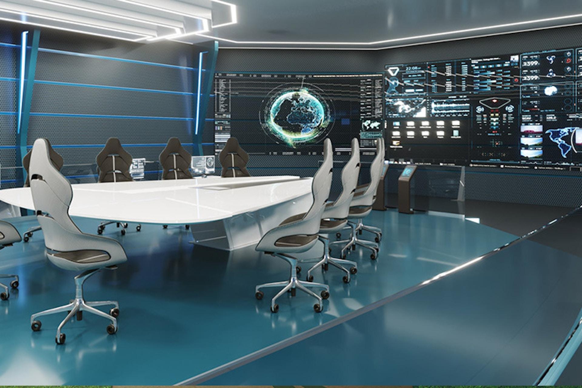 Futuristic command centre
