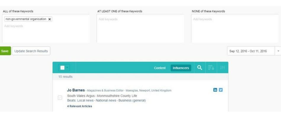 Discover influencer contact management tool