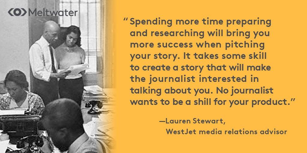 successful pitches to journalists lauren stewart