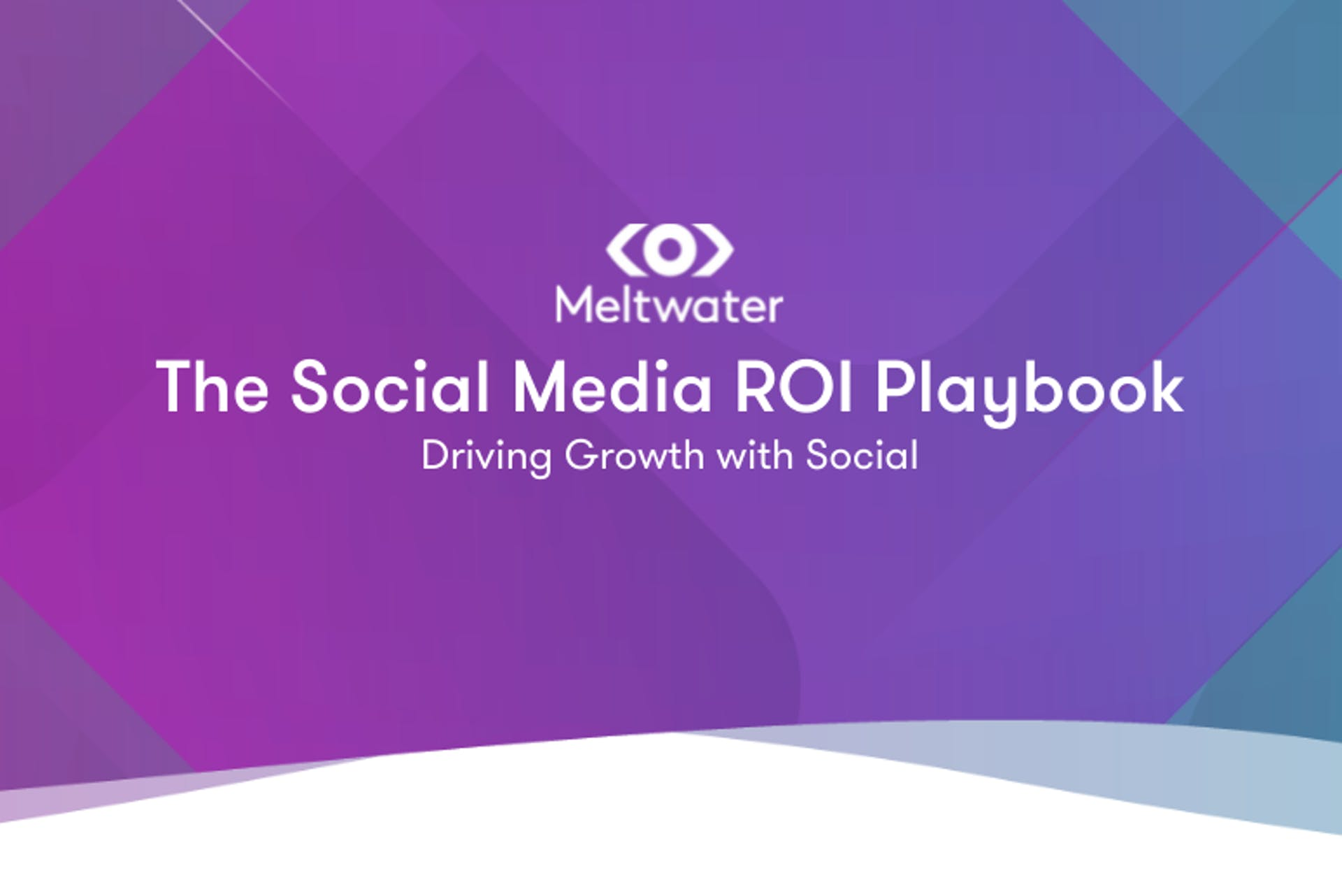 Header image for The Meltwater Social Media ROI Playbook - Driving Growth with Social