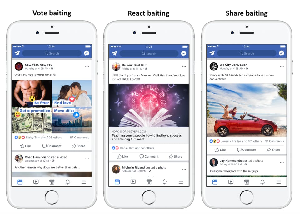 facebook newsfeed images on iphone
