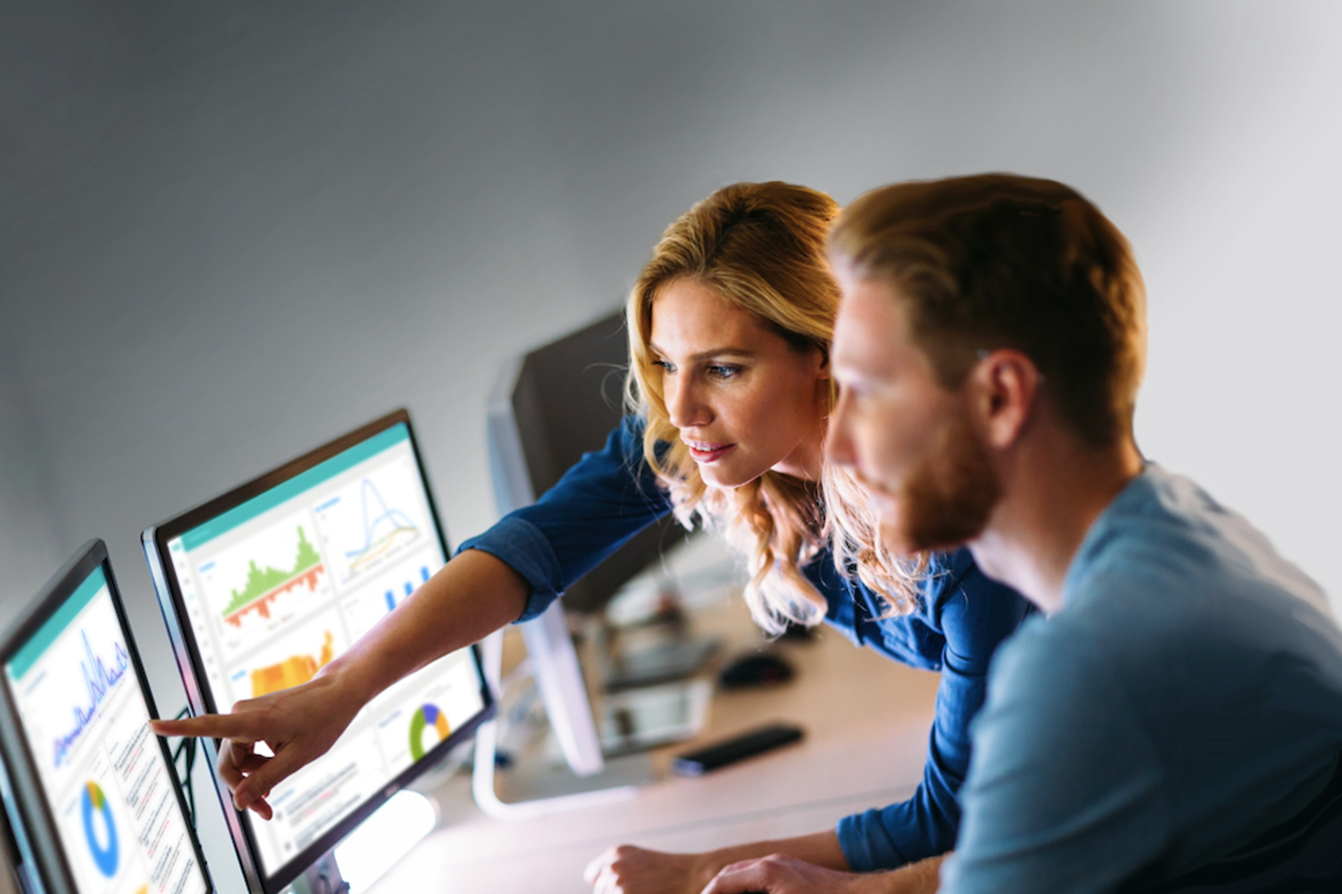 Media Intelligence dashboards on monitors