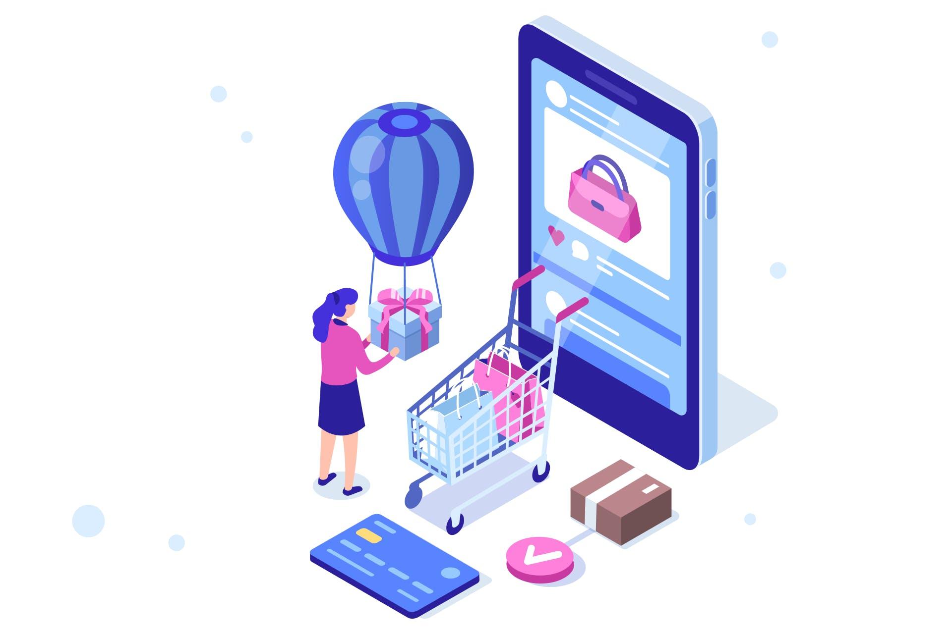 Social Shopping kuvituskuva