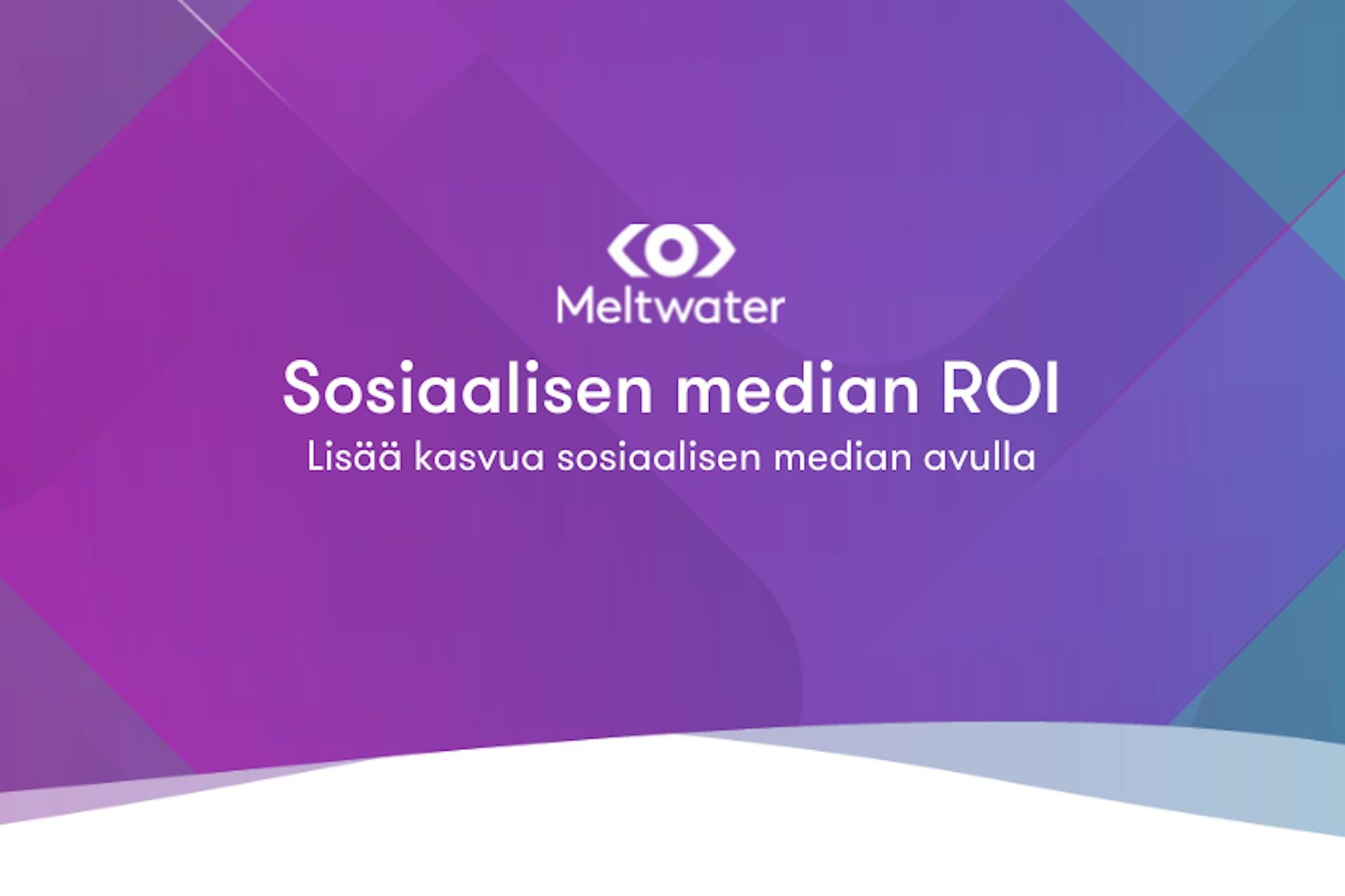 Sosiaalisen median ROI -teksti