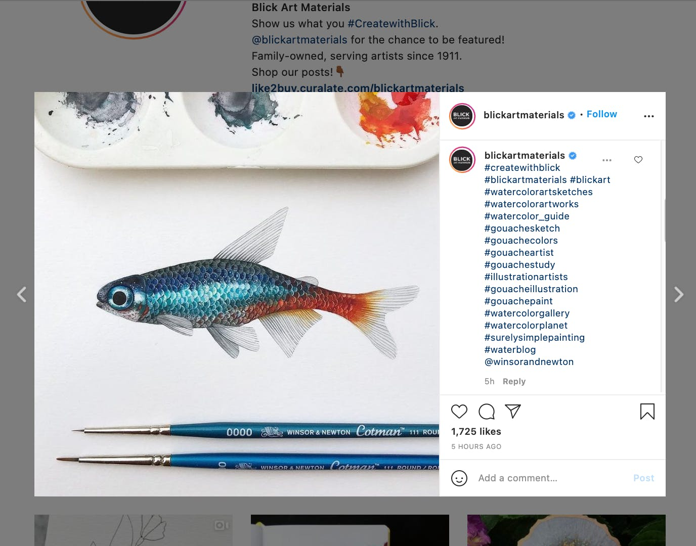 Example of a brand using more hashtag than generally advised. The hashtags are specific, industry related, and catered to niche interests