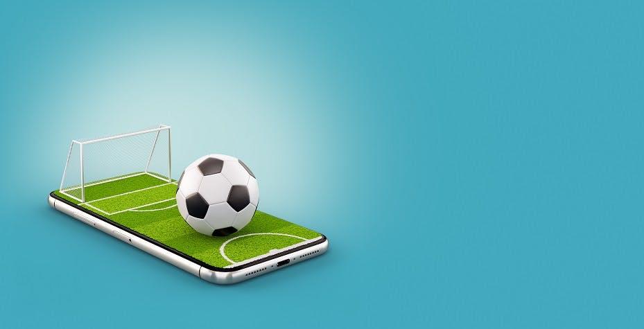 Soccer game in mobile phone