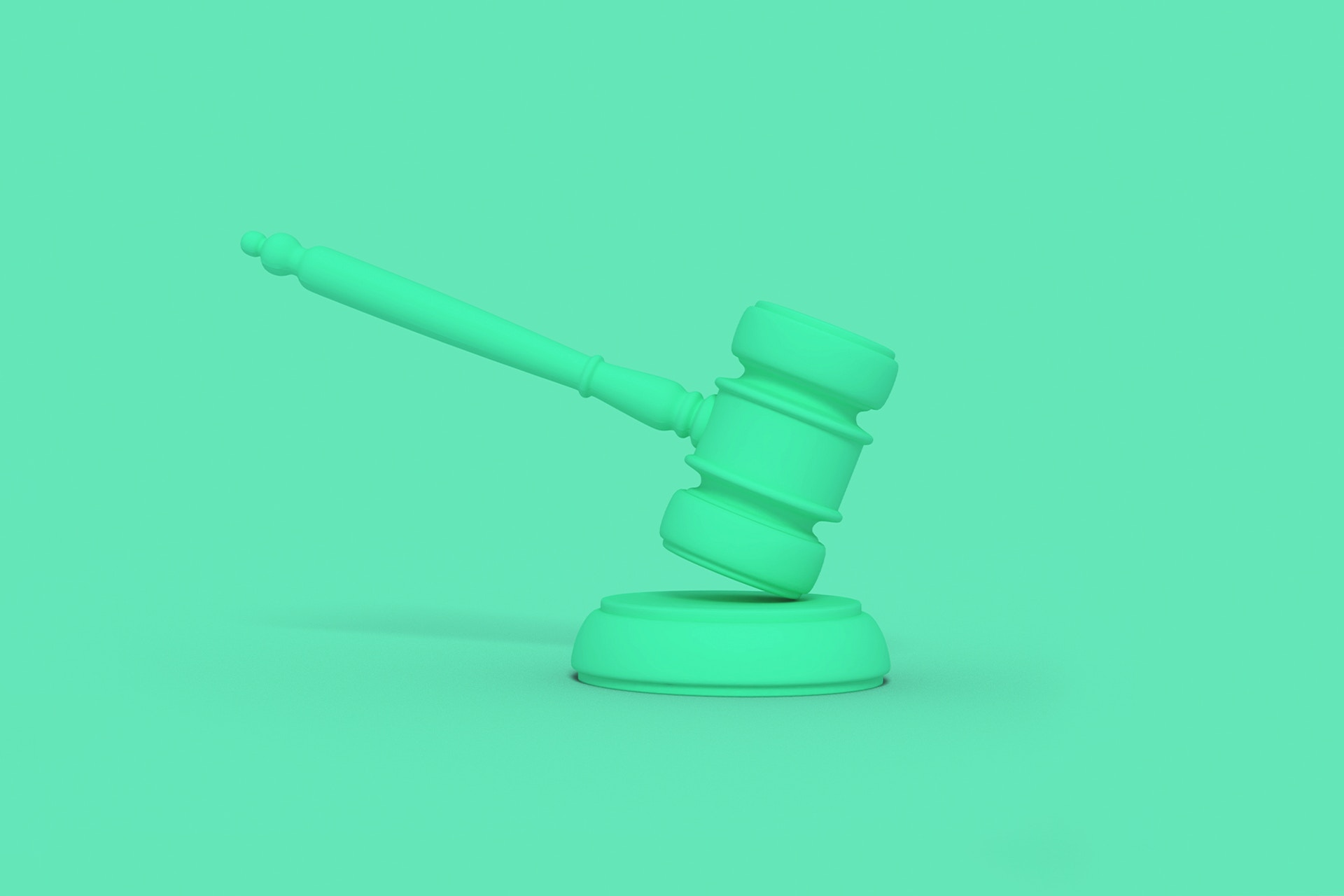 The judgement is in on your PR reputation! A green cartoon gavel is pictured being stuck down against a green backdrop