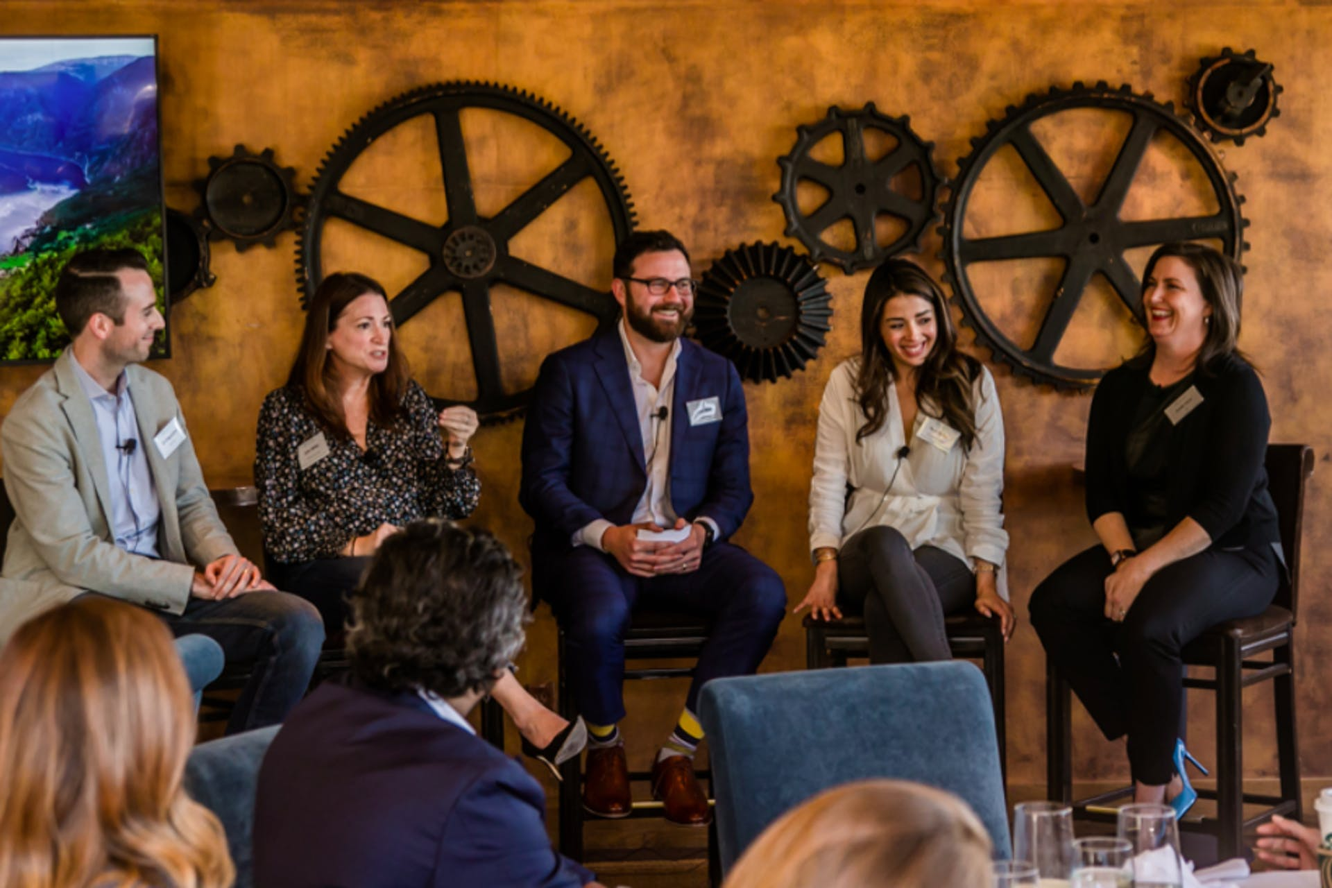 A group of panelists during an event