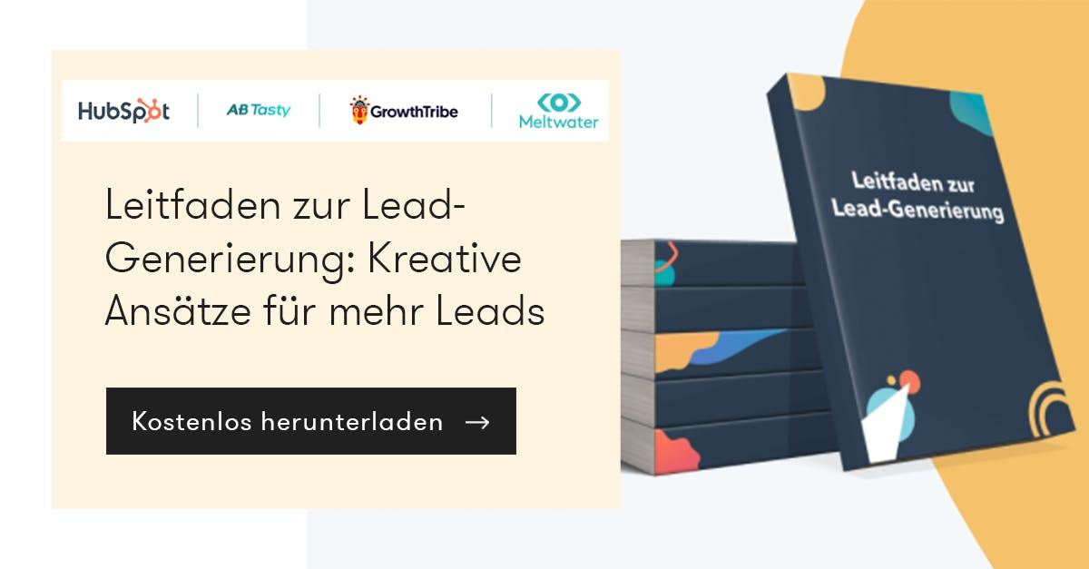 Leitfaden zur Lead-Generierung. Kostenloser Guide zum Download