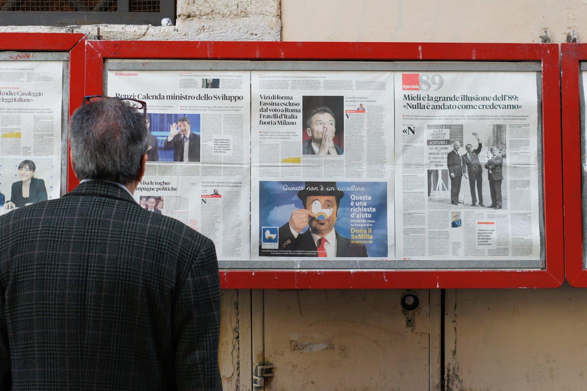 man reading the newspaper