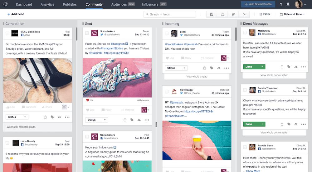 socialbakers monitoring dashboard for social media monitoring tool