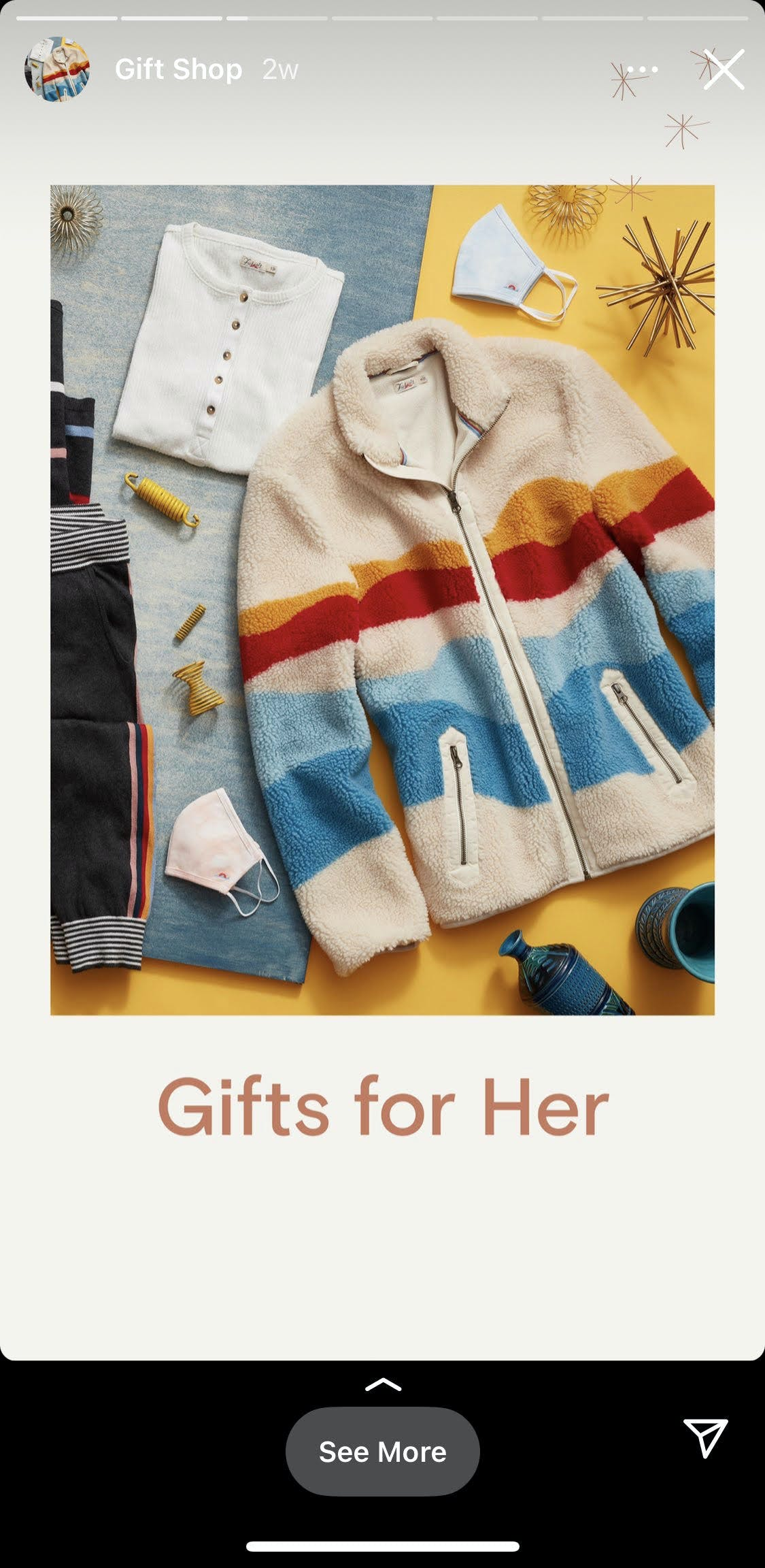 an example of a shoppable Instagram Stories post