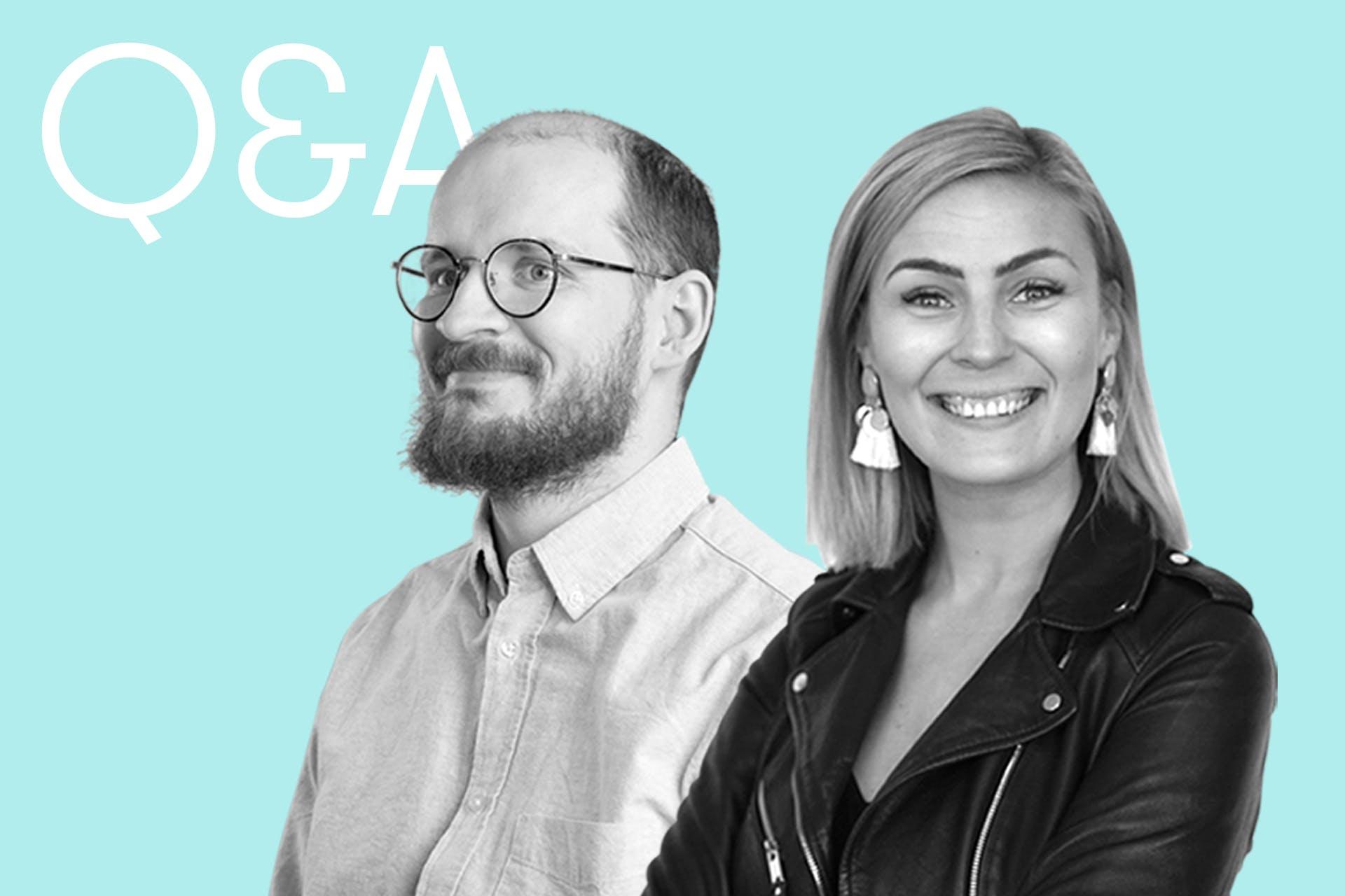 Sosiaalinen media vuonna 2021 -webinaarin puhujat Mikko Rummukainen ja Senni Niemi