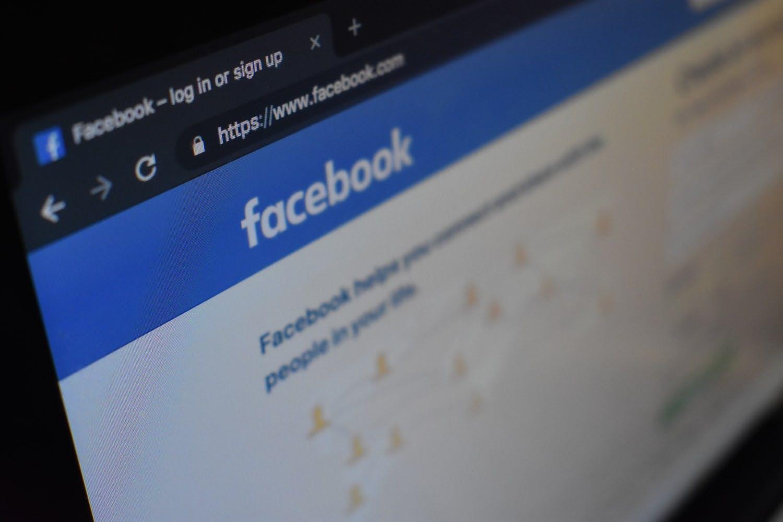 Facebook log in page