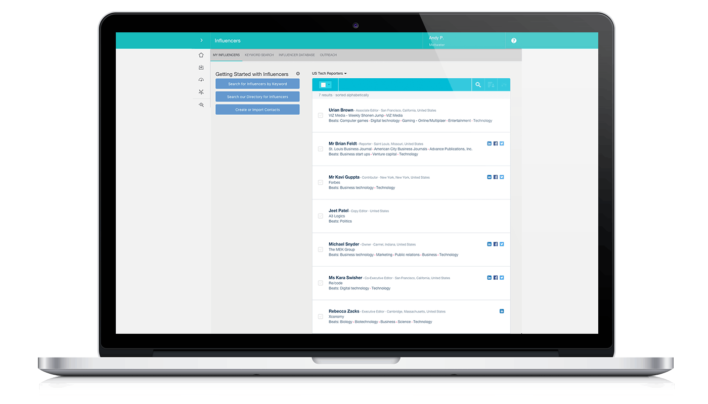 meltwater influencer contact management tool