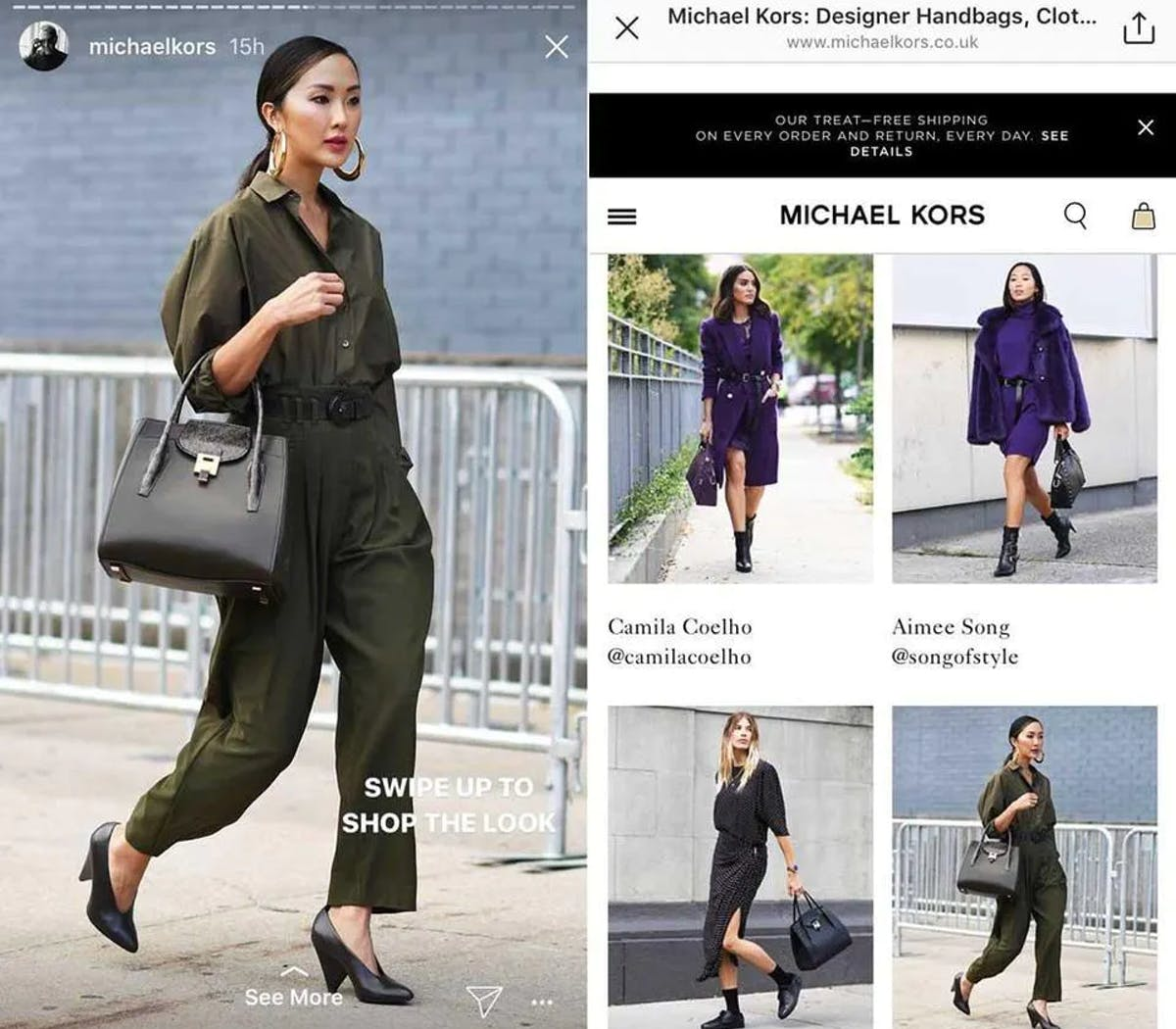 Michael Kors features famous influencers in their brand ad for NYFW
