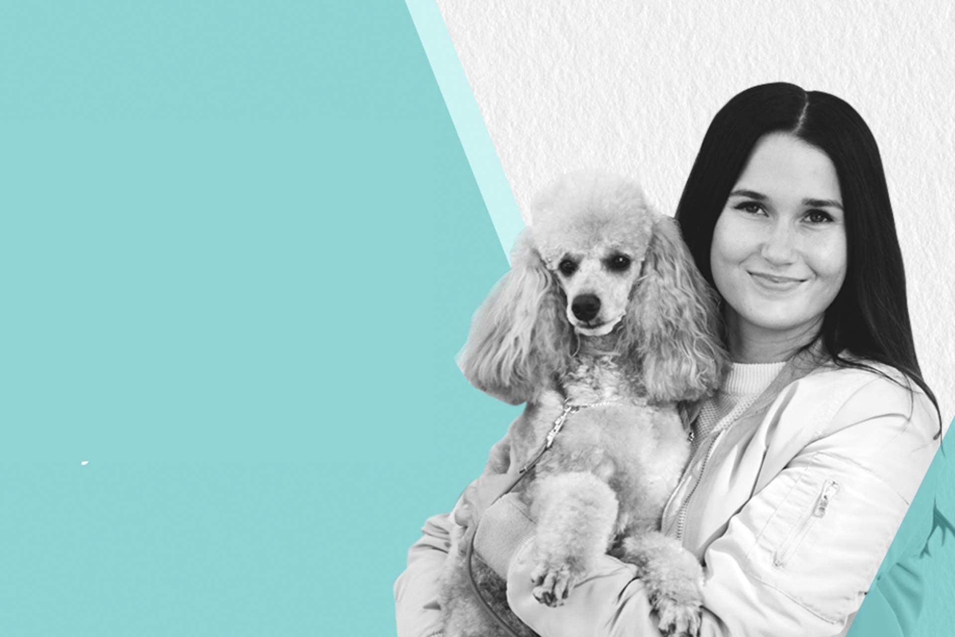 Meltwater Social Summit puhuja Nea Hanén koira sylissään