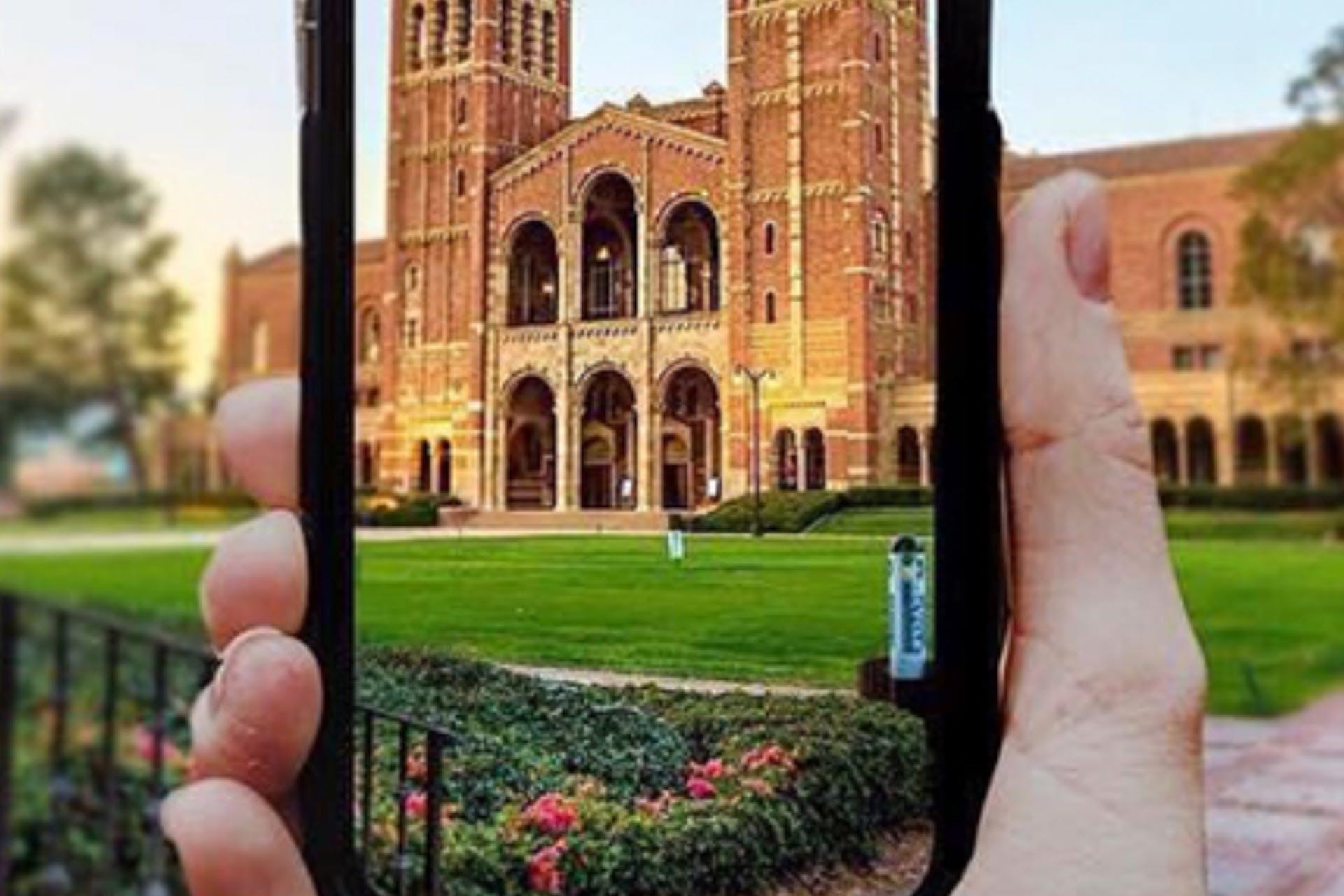 University social media smartphone building