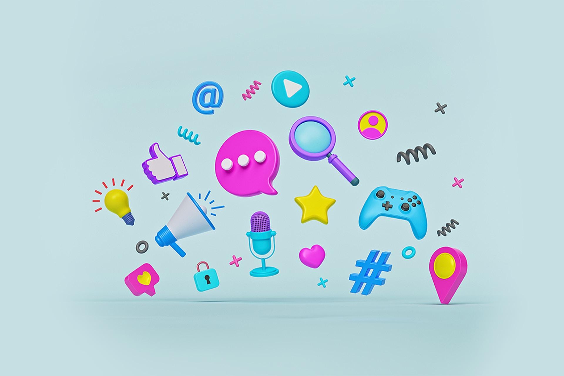 Communication icons.