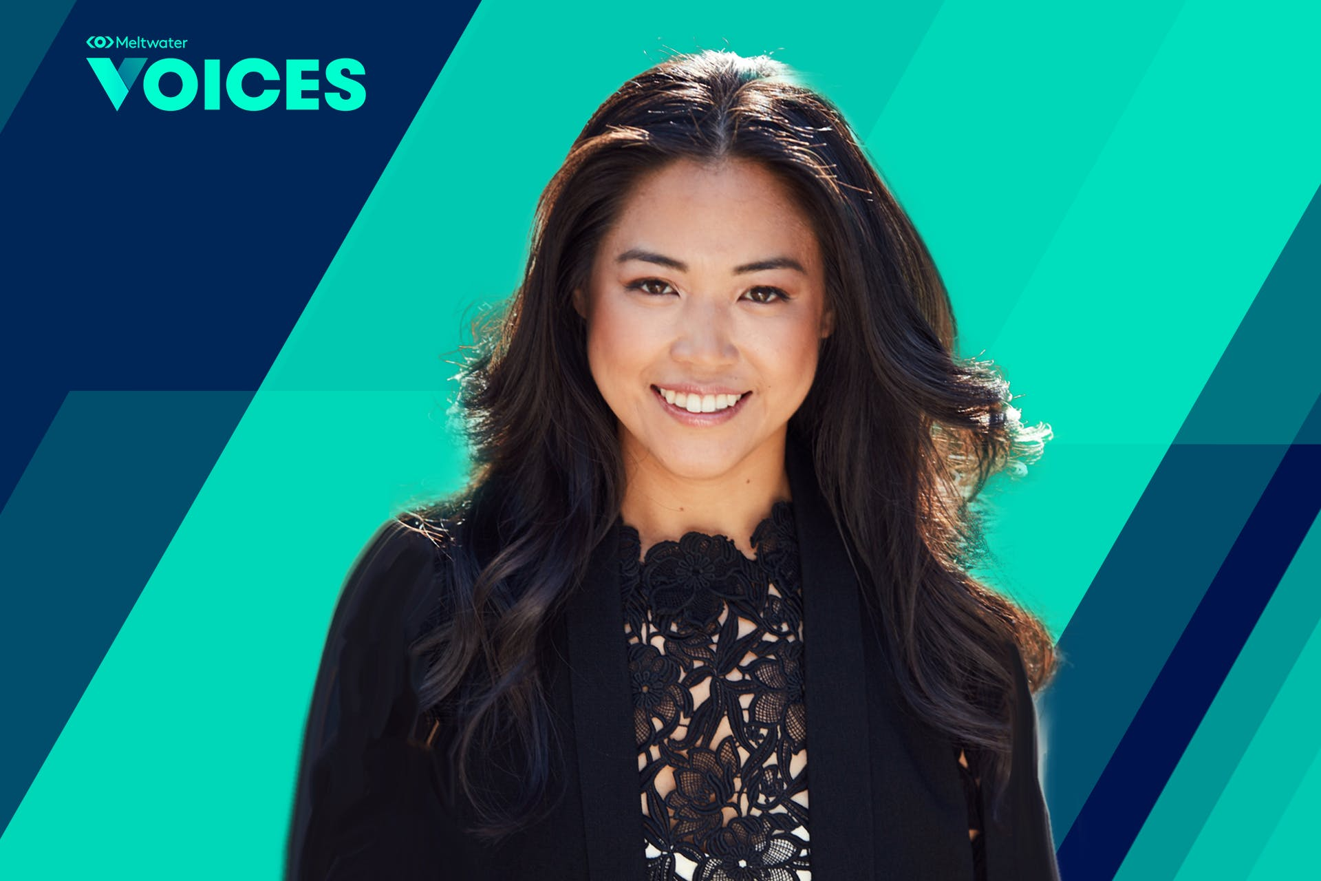 Meltwater Voices banner with speaker Lisa Sun, CEO & Founder of Gravitas
