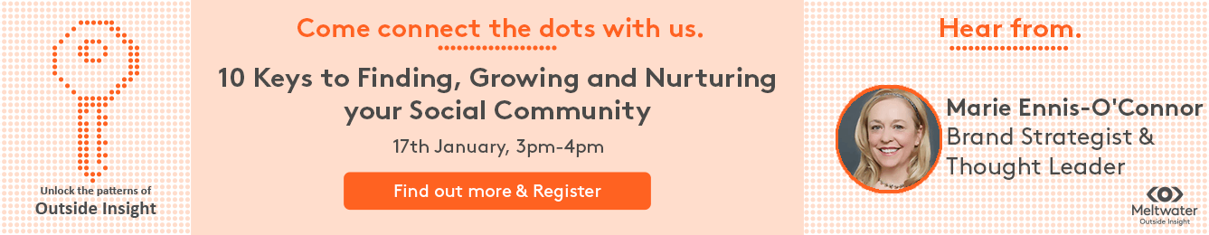 meltwater webinar on 10 keys to finding, growing and nurturing your social community