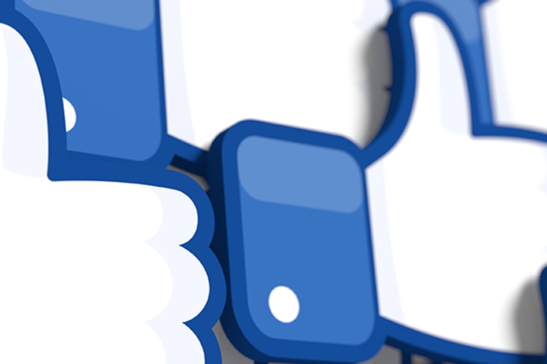You see a photo of Facebook Like icons as the header image for our blog about Facebook Marketing Tips.