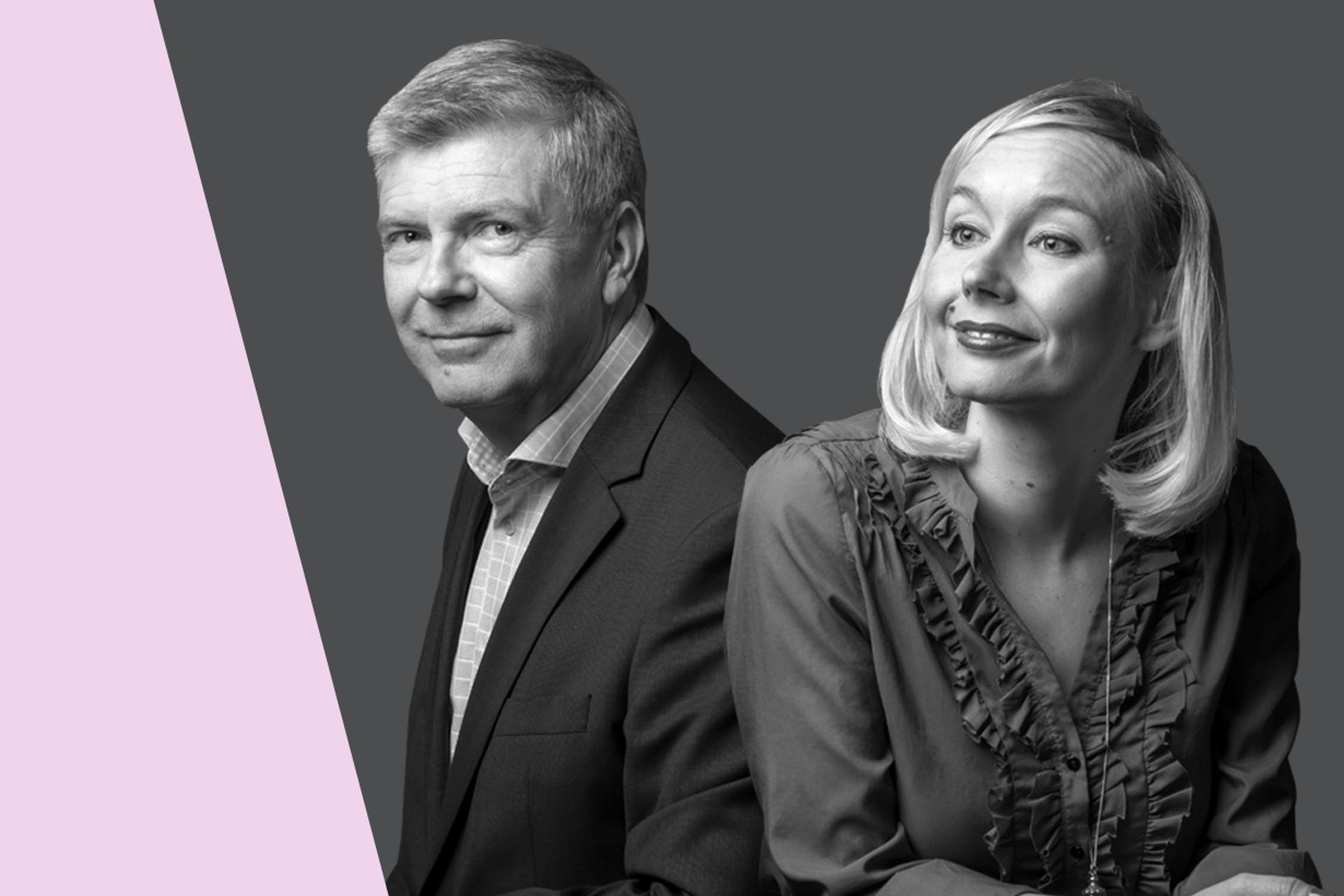 Näin kirjoitat toimivia tiedotteita -webinaarin puhujat Salla Syrman ja Ile Könönen
