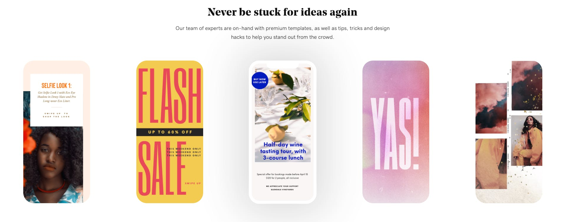 Instagram Stories template creation app Over allows users to choose from multiple types of Stories layouts
