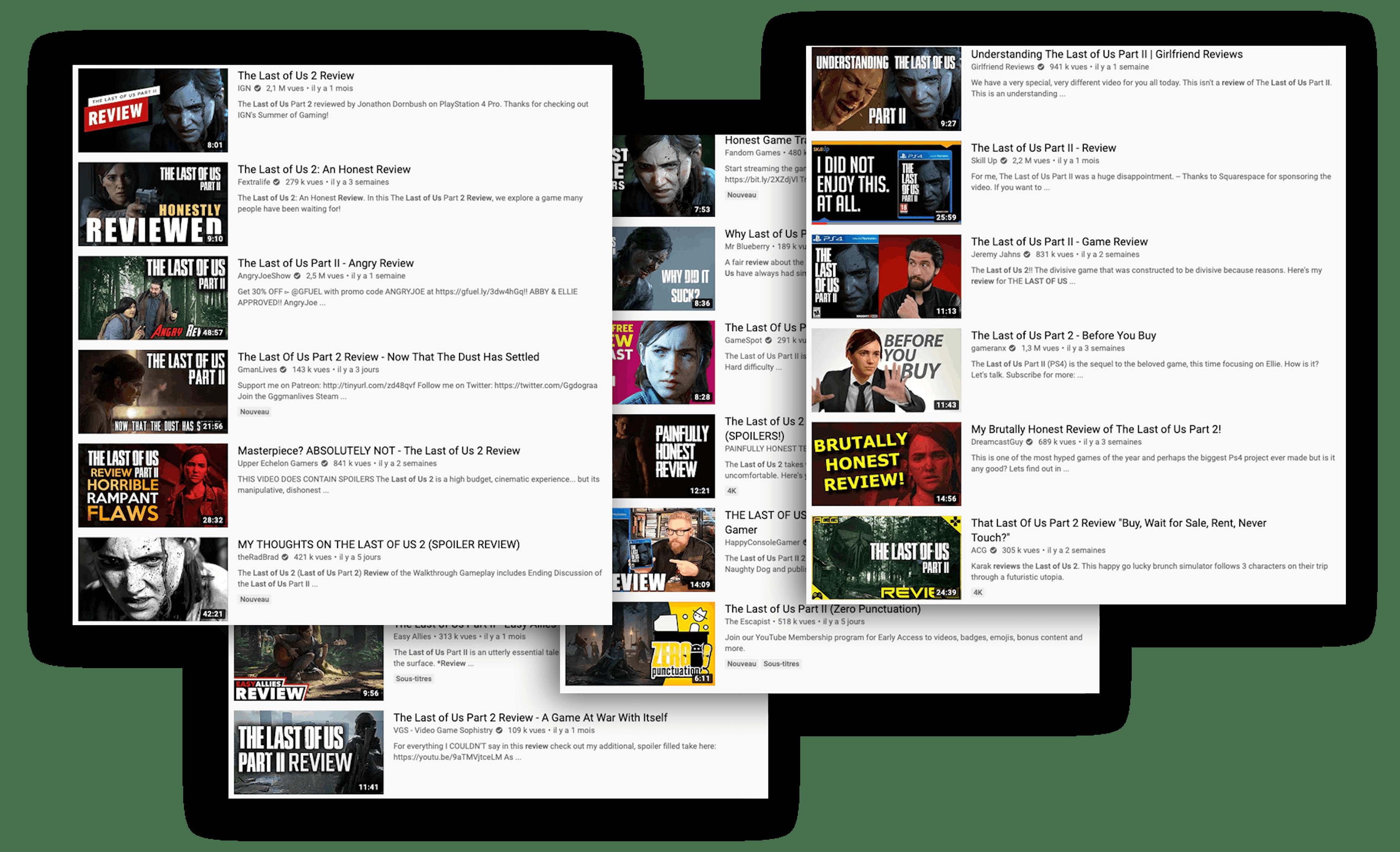 Vous pouvez voir des screenshot de different sites de reviews.