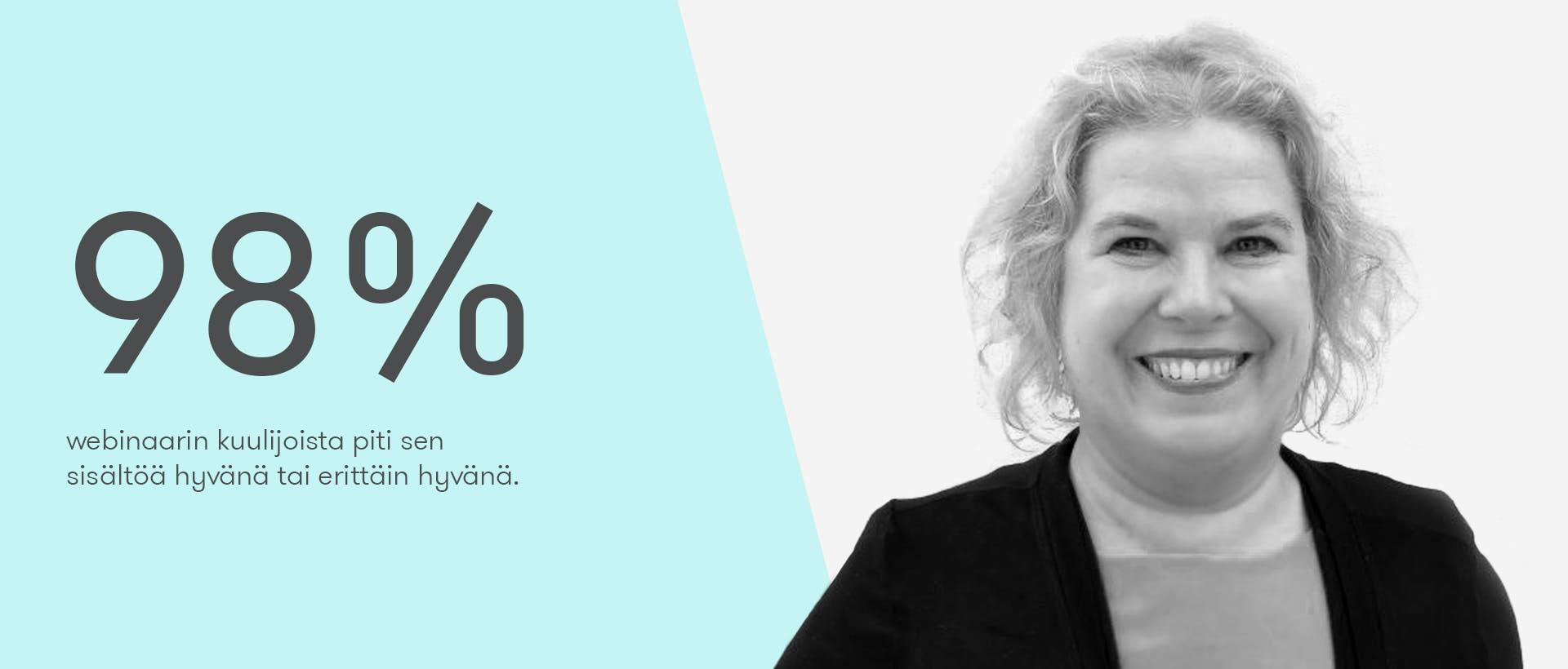 10 oppia Verohallinnon viestinnästä -webinaarin puhuja Nilla Hietamäki
