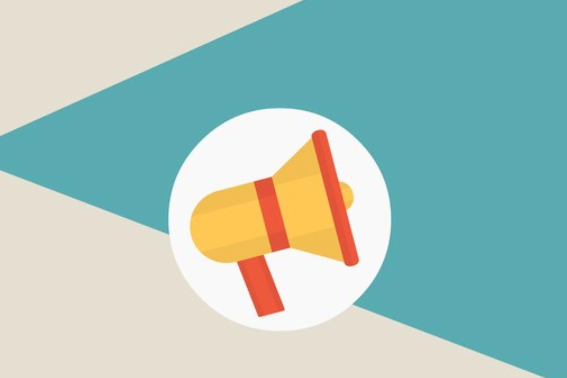 brand advocacy illustration megaphone
