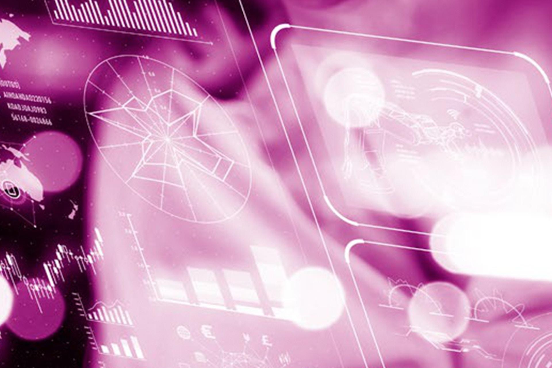 moderne Dashboards rosa transparent