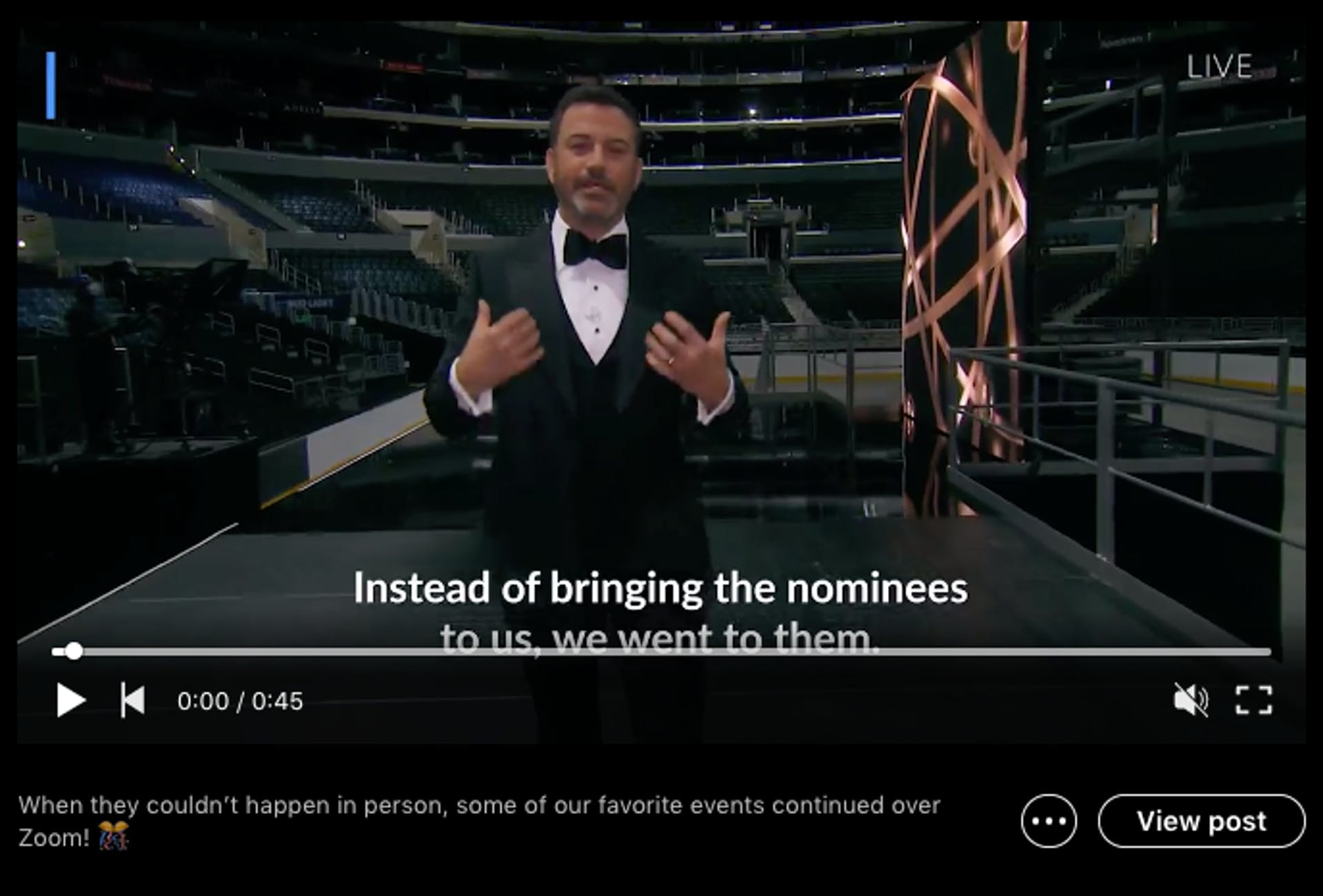 A video on LinkedIn includes captions for ease of viewing on mobile