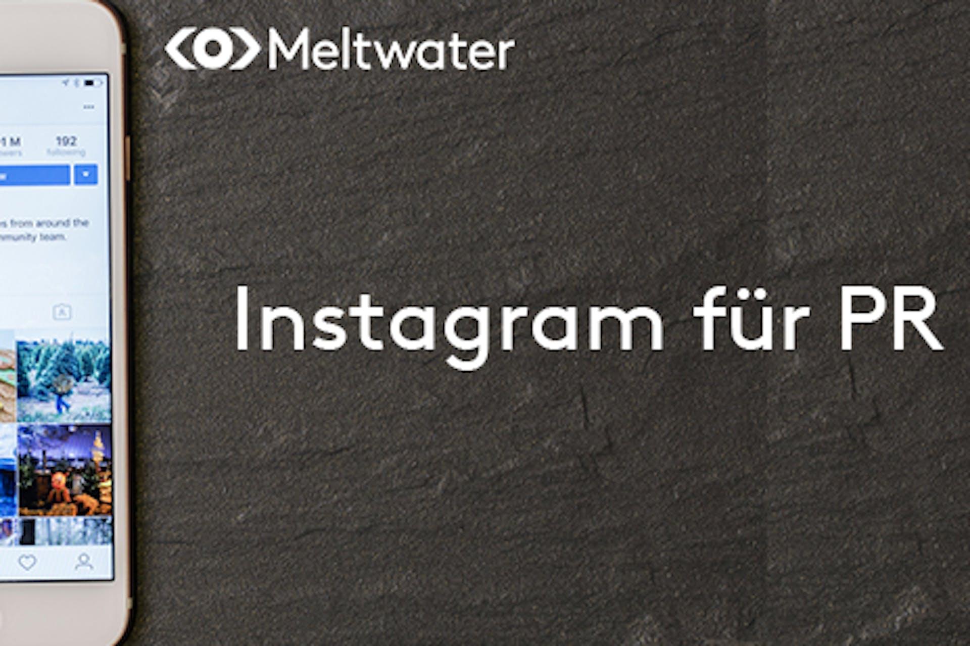 Instagram für PR Schiefertafel Aufschrift