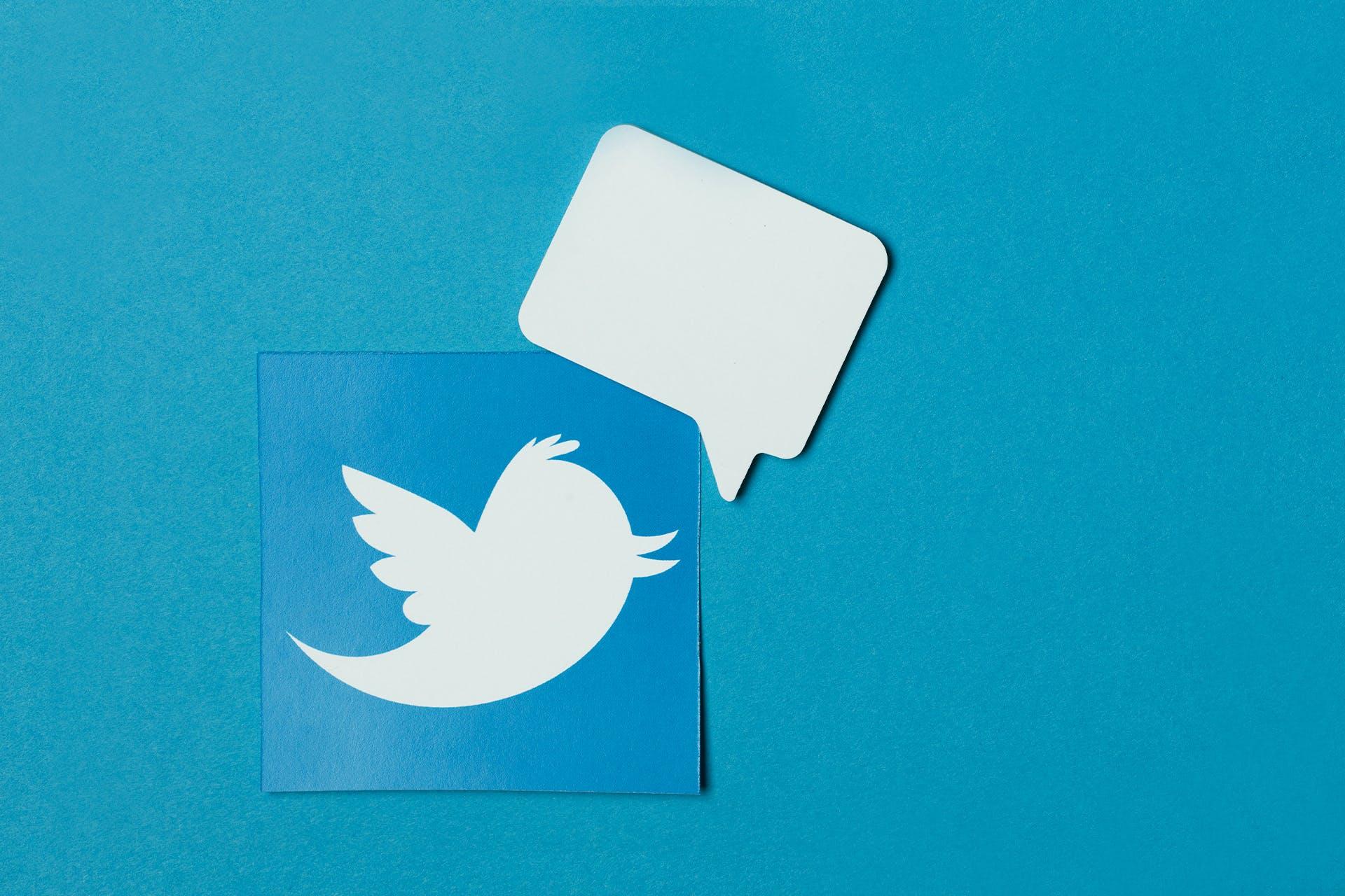 Twitter bird on dark blue background