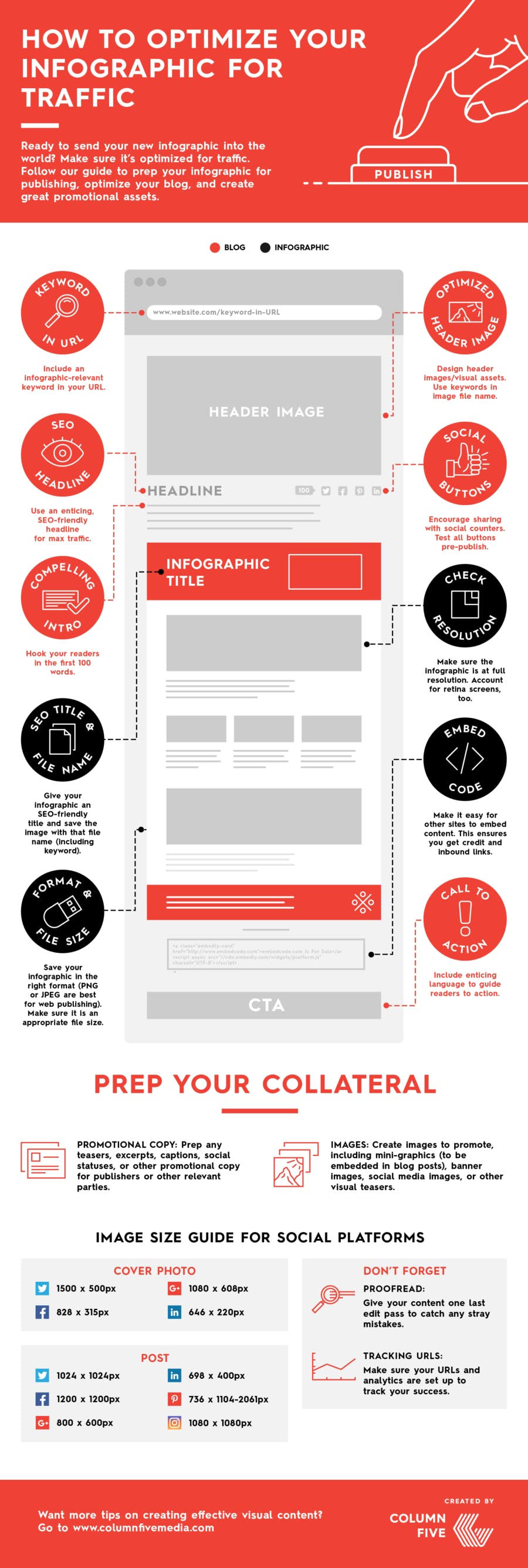 Infographic example red