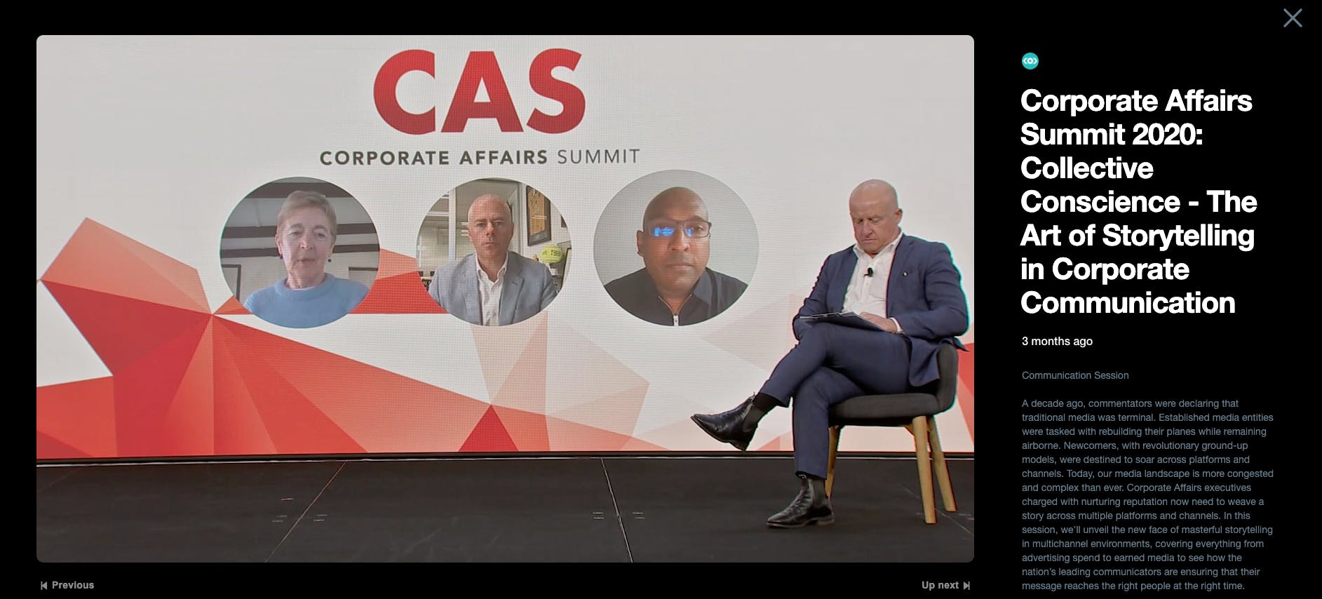 A live recording of the virtual 2020 Corporate Affairs Summit in Sydney, where Meltwater participated in a keynote speech and panel discussion