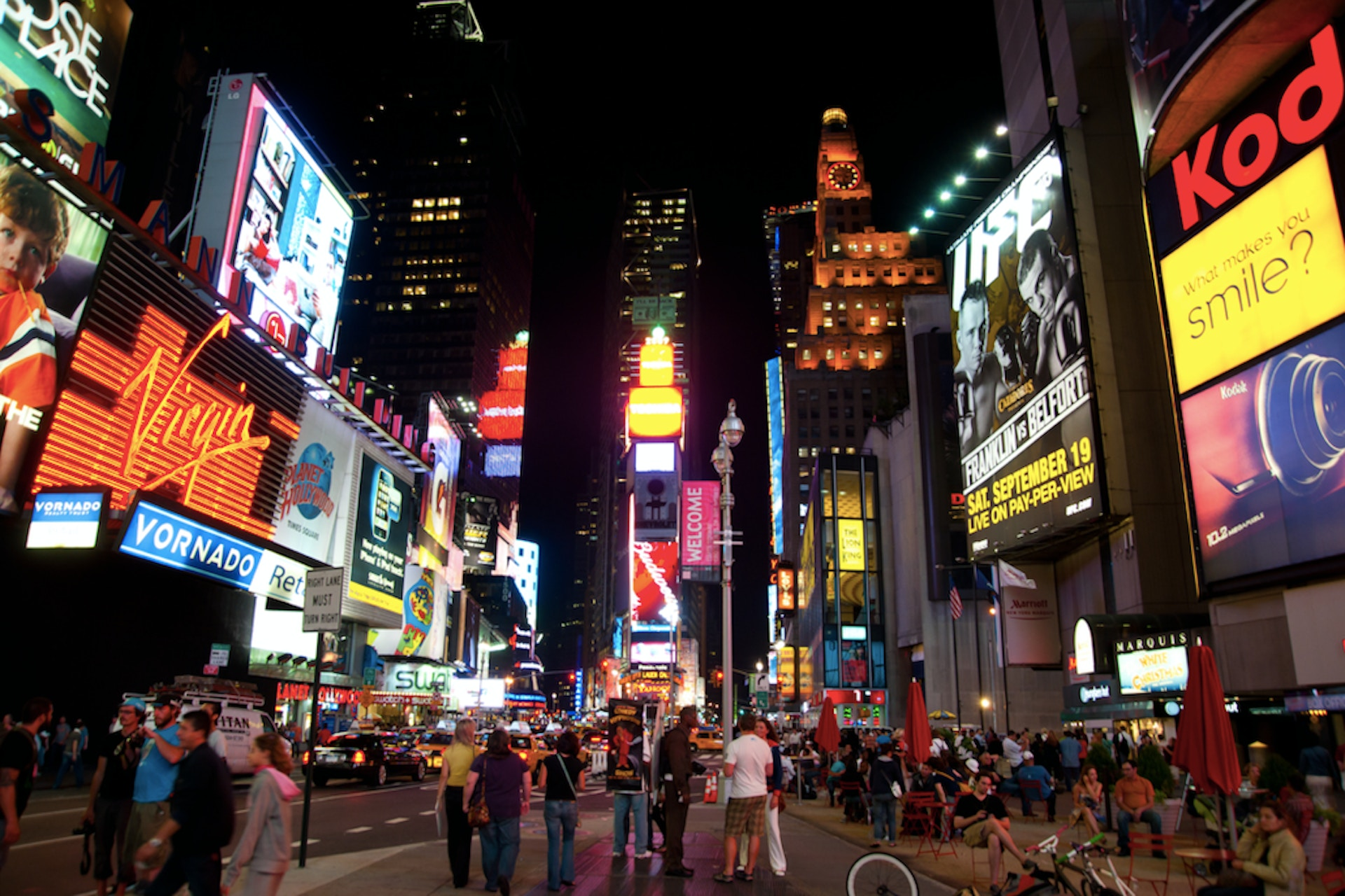 Night time picture Times Square, New York