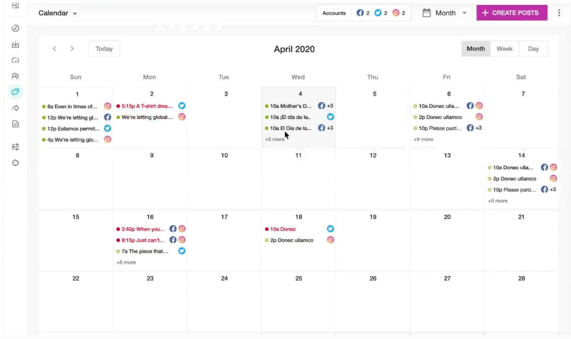 Meltwater Engage - julkaisukalenteri