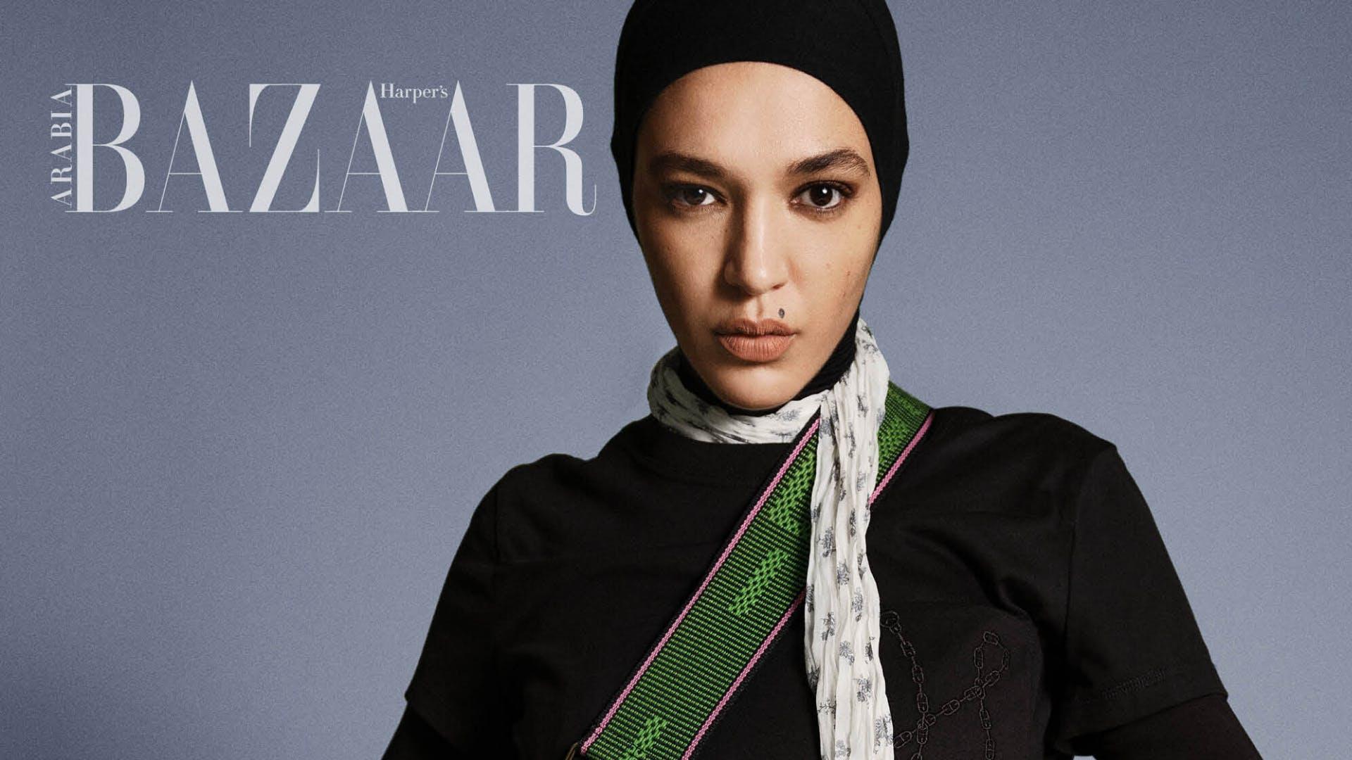 harper's bazaar arabia showcasing woman in abayas