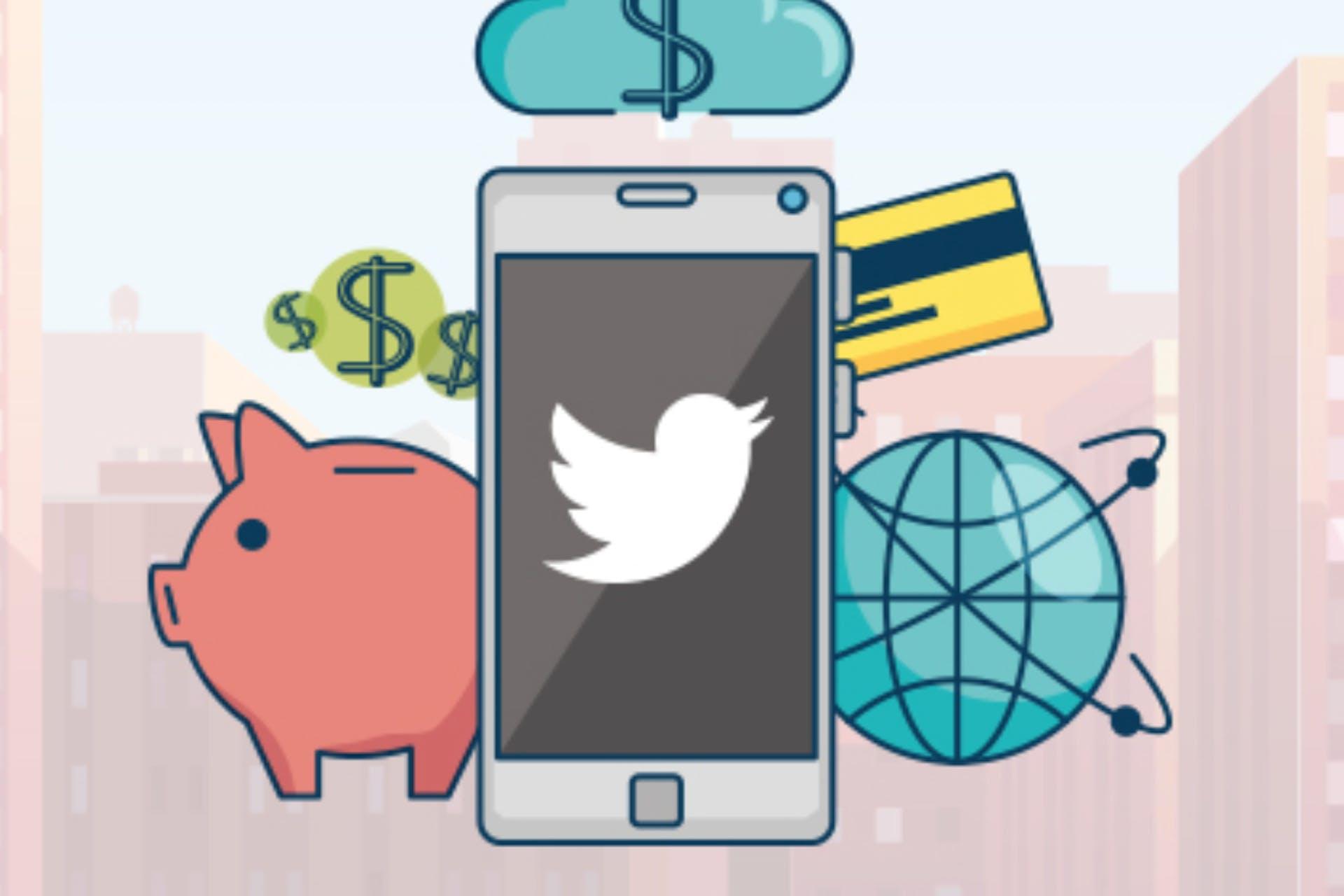 Fintech companies twitter illustration