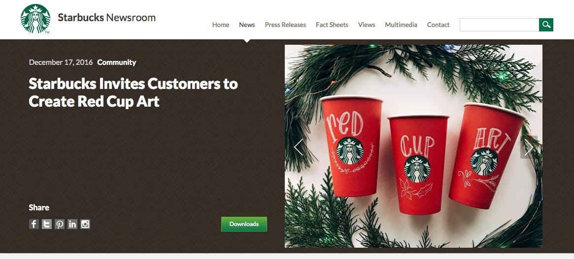 Starbucks user-generated content campaign