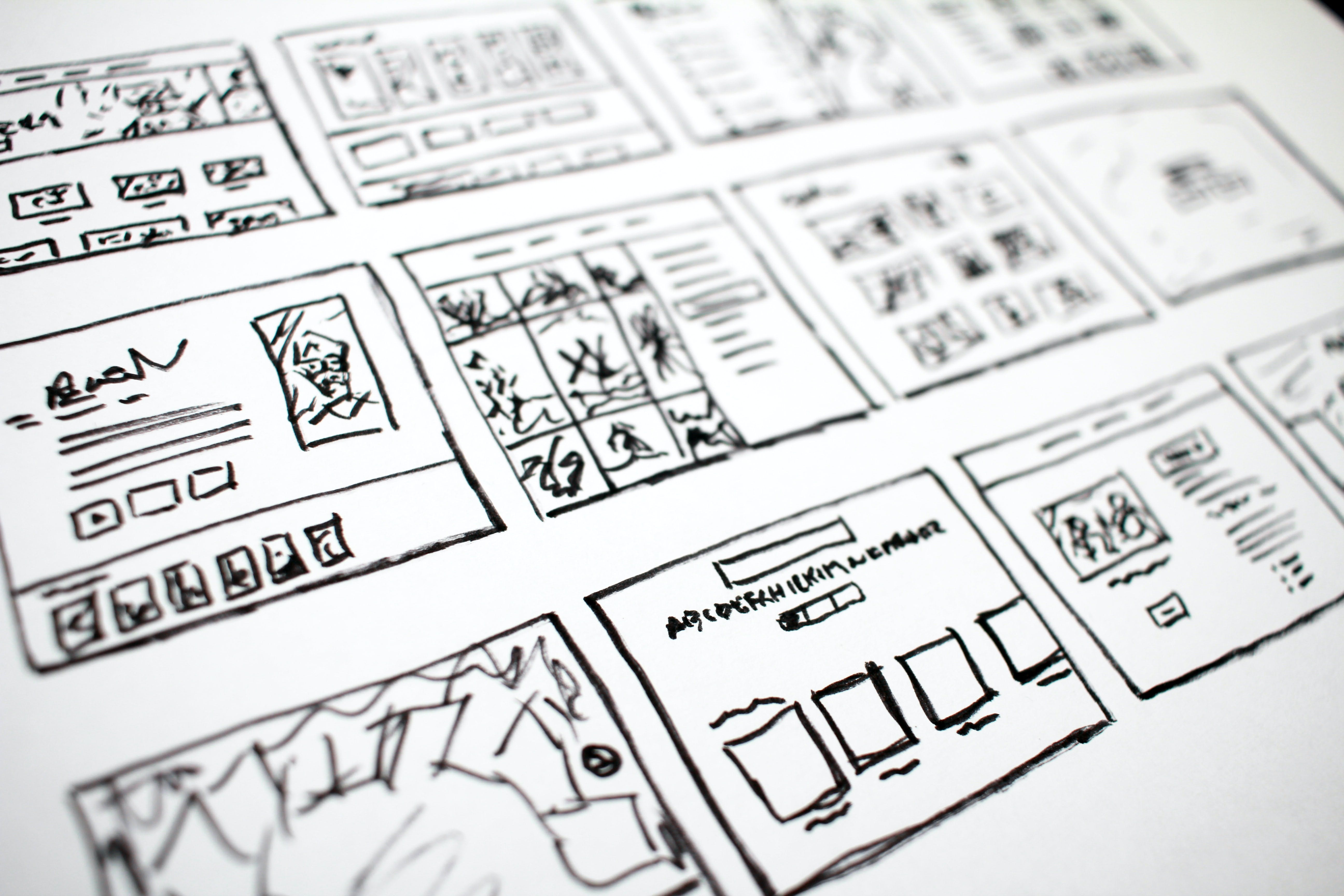Sample storyboard for making a YouTube video