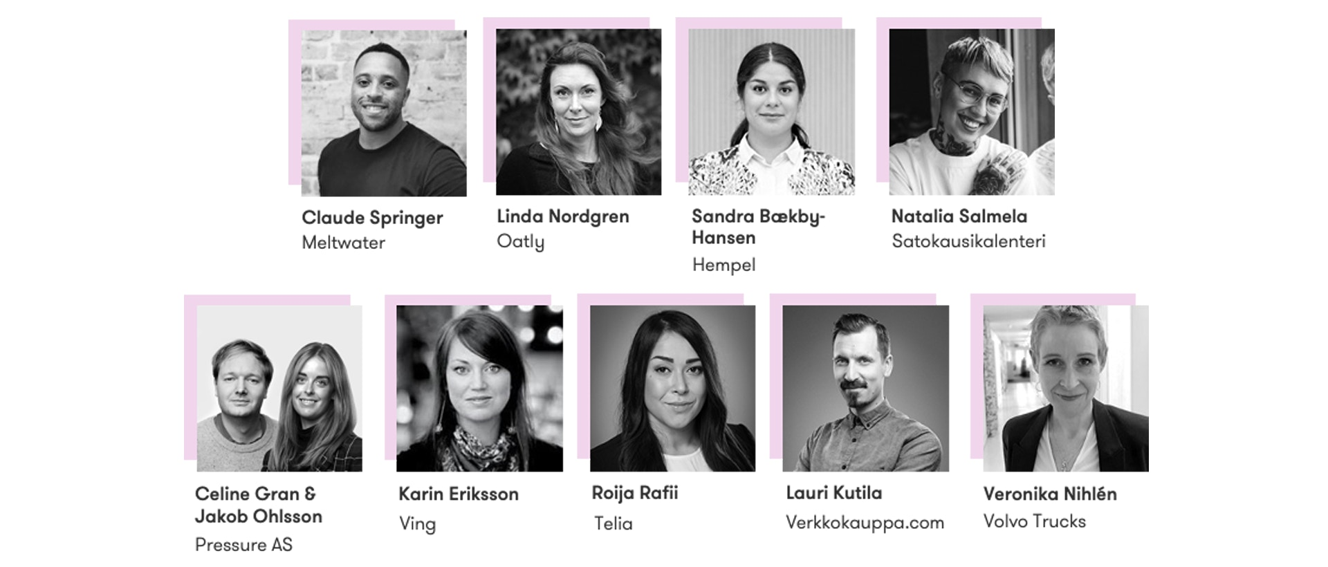 Featured speakers at the Nordic Meltwater Social Summit 2020