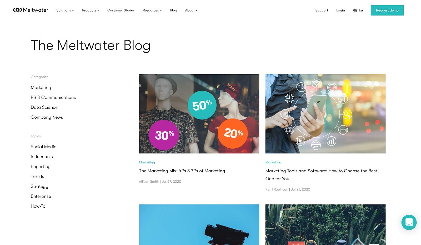 content marketing example of the Meltwater blog