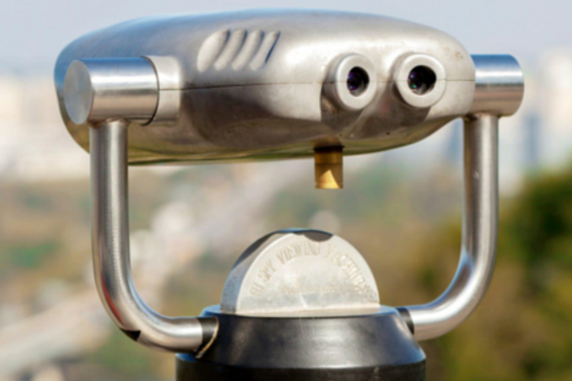 silver outdoor binoculars