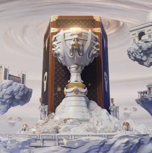 Louis Vuitton and League of Legends trophy case